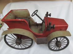 Large-18-034-Custom-Made-Antique-Metal-amp-Wood-Wooden-Ford-Model-T-A-Car-Automobile