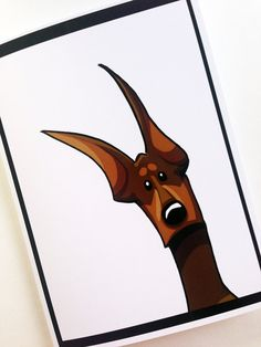 DOBERMAN PINSCHER Greeting Card by SUPATOON on Etsy, $4.00