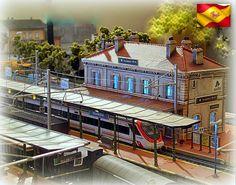 Ferrocarriles españoles. Estación ADIF. Escala H0.