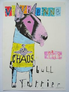 Vivienne Westwood the Bull Terrier Dog original by AndyShawArt Vivienne Westwood el perro de Bull Terrier original por AndyShawArt British Bull Terrier, English Bull Terriers, Bull Terrier Dog, Vivienne Westwood, Grand Designs Magazine, Planet Drawing, Original Paintings, Original Art, Collage Art Mixed Media
