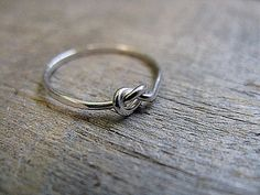 Sterling Silver Knot Ring. $15.00, via Etsy.  I have one of these coming my way. I'm a very lucky girl.