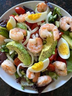This shrimp avocado egg salad is amazing! So easy to make and so delicious! This is a perfect keto lunch or dinner!