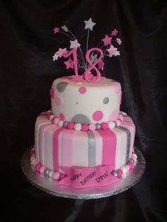 Birthday Cake Models For The Most Beautiful Girls. Cake models for great birthdays Birthday Cake Models, 18th Birthday Cake For Girls, 2 Tier Birthday Cakes, Elegant Birthday Cakes, Pink Birthday, Birthday Wishes, Birthday Ideas, Happy Birthday, 18th Cake