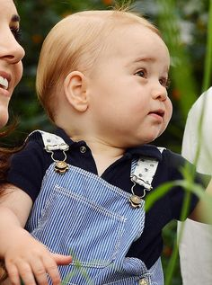 A year old Prince George of Cambridge