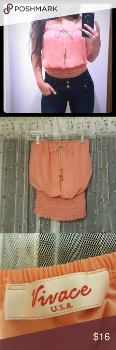 Pink strapless top Adorable tube top prefect for spring or summer time! No flaws and only worn once. It does not have a tag on it thag says the size but I am fairly certain it is a small! vivace usa Tops Crop Tops