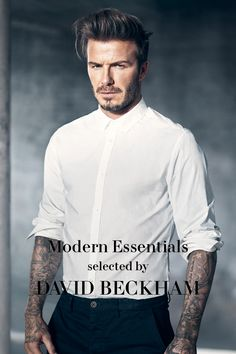 David Beckham handpicked 17 of his fashion favorites in a specially curated collection of Modern Essentials.   H&M Men's Classics