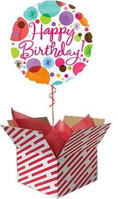 Polka Dots Happy Birthday Foil Balloon #happybirthday #balloon #gift #foilballoon
