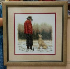Something for the men. Mans Best Friend, Best Friends, Dimensions Cross Stitch, Cross Stitch Animals, Needlework, Fabric, Artist, Pictures, Etsy