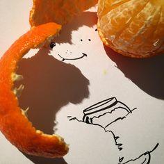"""Bear Tasty"" - shadow art by Vincent Bal, via Instagram"