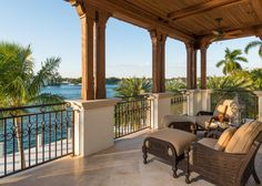 The homeowners enjoy this incredible view of the Intracoastal Waterway from their balcony located in the master bedroom.