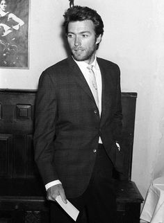 young Clint Eastwood looking like Hugh Jackman