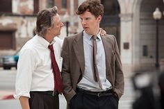 """This image released by The Weinstein Company shows Chris Cooper, left, and Benedict Cumberbatch in a scene from """"August: Osage County. Ewan Mcgregor, Benedict Cumberbatch Sherlock, Sherlock Bbc, Julia Roberts, Meryl Streep, Benedict Cumberbatch Interview, Broadway News, About Time Movie, Classic Films"""
