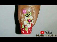 ♥Diseño de uñas Pies de flores FACIL - Easy flowers Toenail art♥ - YouTube Crazy Nail Designs, Nail Art Designs, Beautiful Nail Art, Gorgeous Nails, Hot Nails, Hair And Nails, Animal Nail Art, Crazy Nails, Toe Nail Art