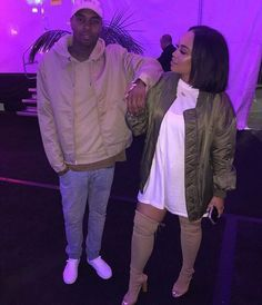 Image about couple in imma steal😛 by Kelly on We Heart It Black Couples, Cute Couples, Family Goals, Couple Goals, Couple Outfits, Fall Outfits, Heather Sanders, Couple Relationship, Relationships