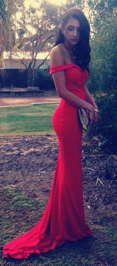 2016 Red Long Prom Dresses, Mermaid Prom Dresses,