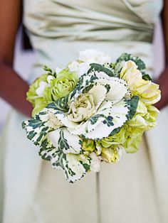 loving this ornamental kale in boquets and arrangements