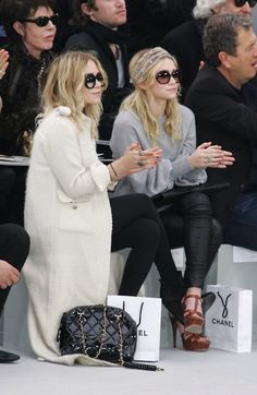 round of applause for the Olsens at Chanel. smiles... you've been Olsened ;)