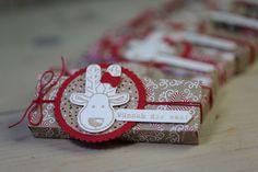 Heute zeige ich Euch eine Verpackung für ein Pick Up. Verwendet habe ich das Envelope Punch Board und das neue Stempelset Ausgestochen Weihnachtlich.