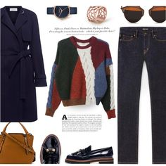 How To Wear Navy Trench... Outfit Idea 2017 - Fashion Trends Ready To Wear For Plus Size, Curvy Women Over 20, 30, 40, 50