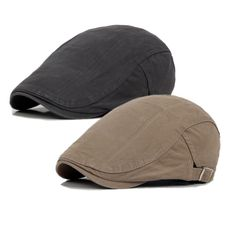 Traditional Hunting Hat 2 Pack Men s Cotton Flat Cap One Size Khaki Grey badd3154a006