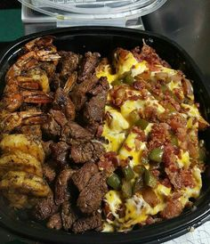 Shrimp and steak potato bowl @GottaLoveDesss
