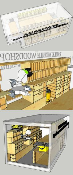 Mobile woodworking shop.