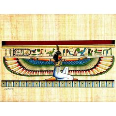 Maat Hand Painted Egyptian Papyrus
