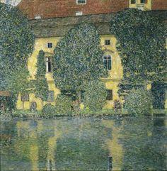 Au bord de la rivière de Schloß Kammer, par Gustav Klimt