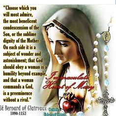 Quote of Our Blessed Mother