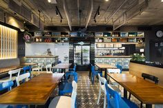 Restaurant Design- This retro inspired asian restaurant is amazing! I am obsessed with everything! Mata Design | Ah Mei Cafe, Cannington