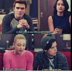 Don& need color theory to understand this one! The post Rinerdale Insta account: _bugheadaus__ & appeared first on Riverdale Memes. Riverdale Quotes, Bughead Riverdale, Riverdale Funny, Riverdale Shirts, Watch Riverdale, Riverdale Betty And Jughead, Lili Reinhart And Cole Sprouse, Riverdale Fashion, Riverdale Characters