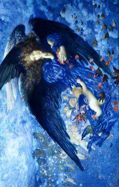 jaded-mandarin:  Edward Robert Hughes. Night with her Train of Stars, 1912.