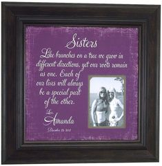 sisters photo frame wedding thank you gift by photoframeoriginals 8900