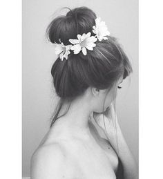 Pretty flower in hair