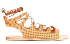 #fashion that #beautiful & #wearable #peach Lace-up #sandal to add to my #wishlist