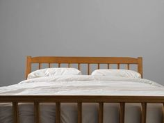 Guillerme & Chambron Art Deco Bed in Solid Oak 2
