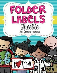 Folder Labels Melonheadz Edition by Jessica Peterson Homework Folder Labels, Math Folders, Student Folders, School Folders, Writing Folders, Classroom Labels, Classroom Organization, Classroom Ideas, Math Labels