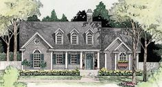 This 1.5 story Cape Cod features 1,727 sq feet. Call us at 866-214-2242 to talk to a House Plan Specialist about your future dream home!
