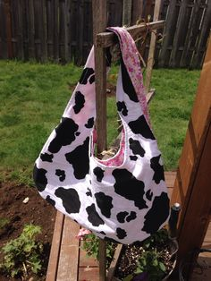 Reversible Tote Bag  by TheCraftyCranes on Etsy, $15.00