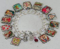 lovely bracelet with vintage postcards