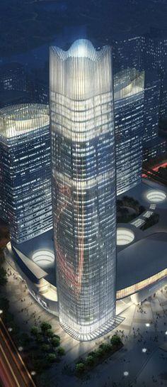 Yiwu City World Trade Centre, Yiwu, Zhejing Province, China by RTKL Architects :: 62 floors, height 260m