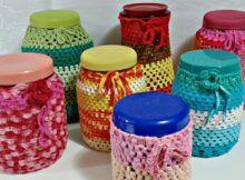 Crochê - Potes decorados