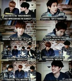 Baekyeol being Baekyeol (from exo first box) Baekyeol, Chanbaek, Saranghae, Kim Jongin, Kyungsoo, Cnblue, Btob, K Pop, Bts Got7