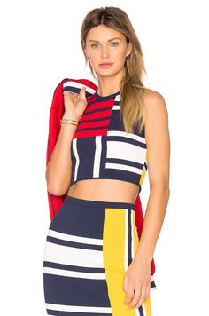 Shop for Tommy Hilfiger TOMMY X GIGI Patchwork Top in Peacoat & Multi at REVOLVE. Top Tommy Hilfiger, Hilfiger Denim, Tween Fashion, Fashion Beauty, Moda Tween, Revolve Clothing, All About Fashion, Two Piece Skirt Set, Dresses For Work