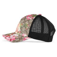 0bf26ef650562 Gucci Gg Blooms Baseball Hat ( 335) ❤ liked on Polyvore featuring  accessories