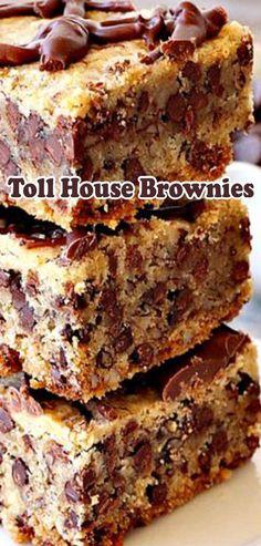 Toll House Brownies Chocolate Chunk Cookies, Brownie Cookies, Brownie Bar, Cupcake Cookies, Cookie Bars, Cupcakes, Bar Cookies, Dessert Bars, Dessert Recipes