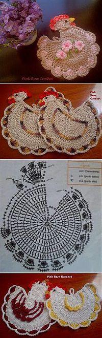 Pinned onto Knitting and Crochet Board in Knitting and Crochet Category Filet Crochet, Crochet Motif, Crochet Designs, Crochet Doilies, Crochet Flowers, Knit Crochet, Crochet Patterns, Crochet Appliques, Crochet Kitchen