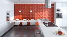 Three dimensional wall design: refined living with style and taste Panneau Mural 3d, Wall Design, House Design, Acoustic Panels, Decorative Panels, Kermit, Three Dimensional, Design Inspiration, Interior