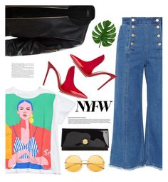 """""""New York Fashion Week"""" by soranamikaze ❤ liked on Polyvore featuring Steve J & Yoni P, LE3NO, Jimmy Choo, Gianvito Rossi, NYFW, contestentry, polyvorecontest, polyvorefashion and polyvoreset"""