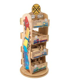 With Its Eight Compartments And 360 Degree Swivel, This Train Track Rack  Keeps Tiny Pieces And Accessories Organized And Accessible.